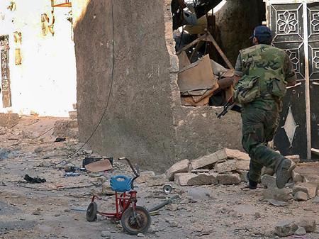 Syrian troops in Aleppo (image: picture alliance / dpa / Sana)