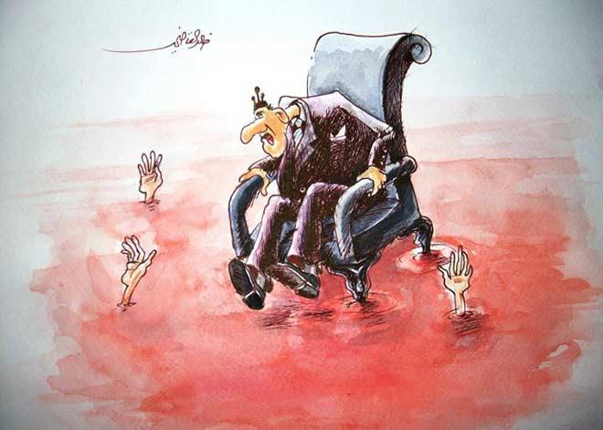 خالد القاضي - كاريكاتير