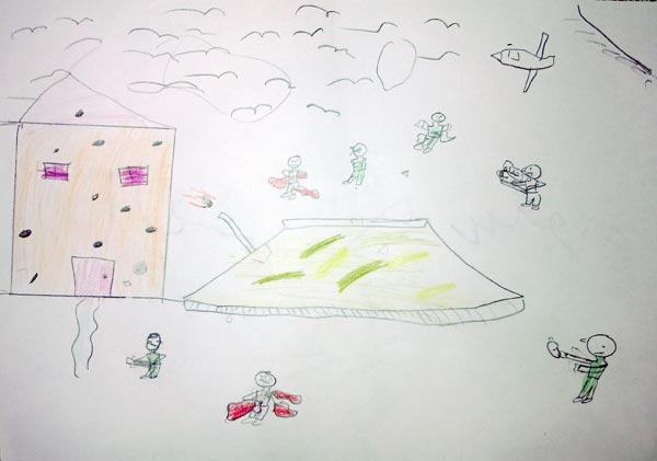 من رسوم أطفال درعا، دحنون