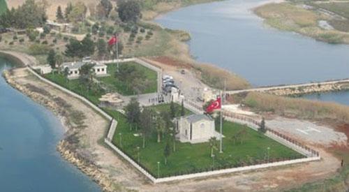صورة جوية لمكان المدفن في قره قوزاق